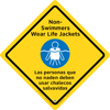 45-315 - Wear Life Jackets Sign,