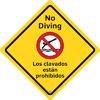 45-350 - No Diving Sign, outdoor,