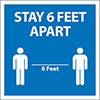 45-462 - Stay 6 Feet Apart Sign