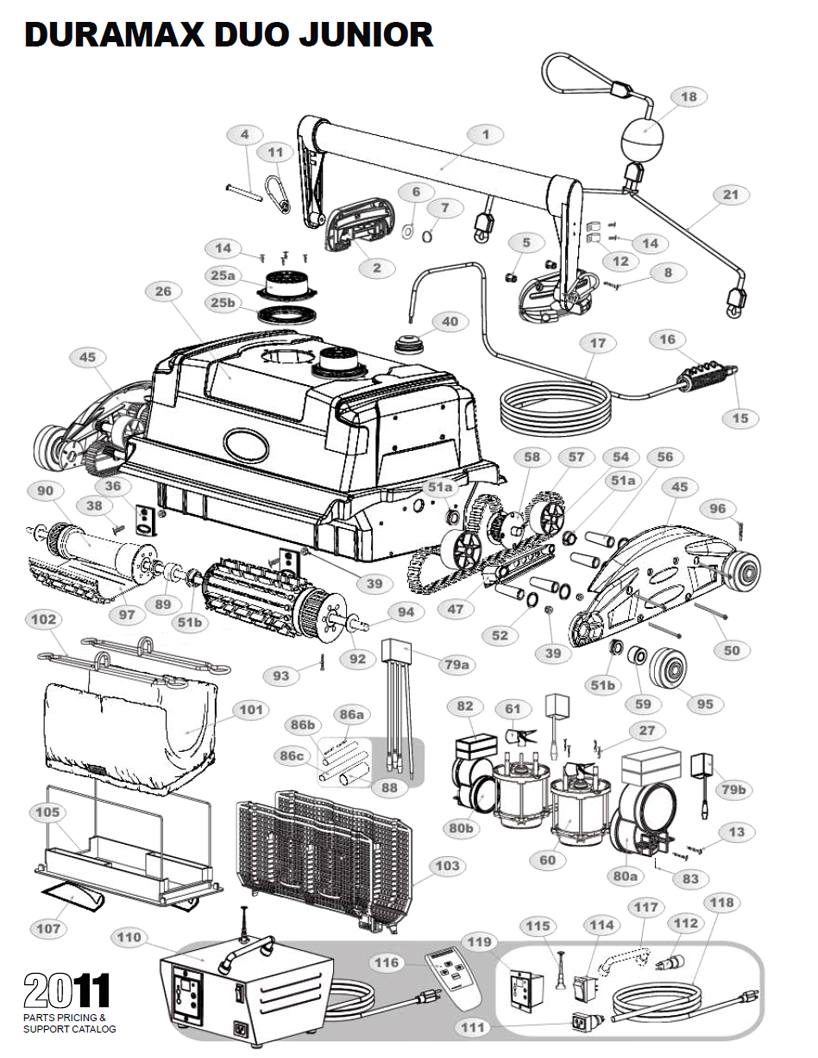 duramax duo jr parts diagram and parts list 2013  u0026 before