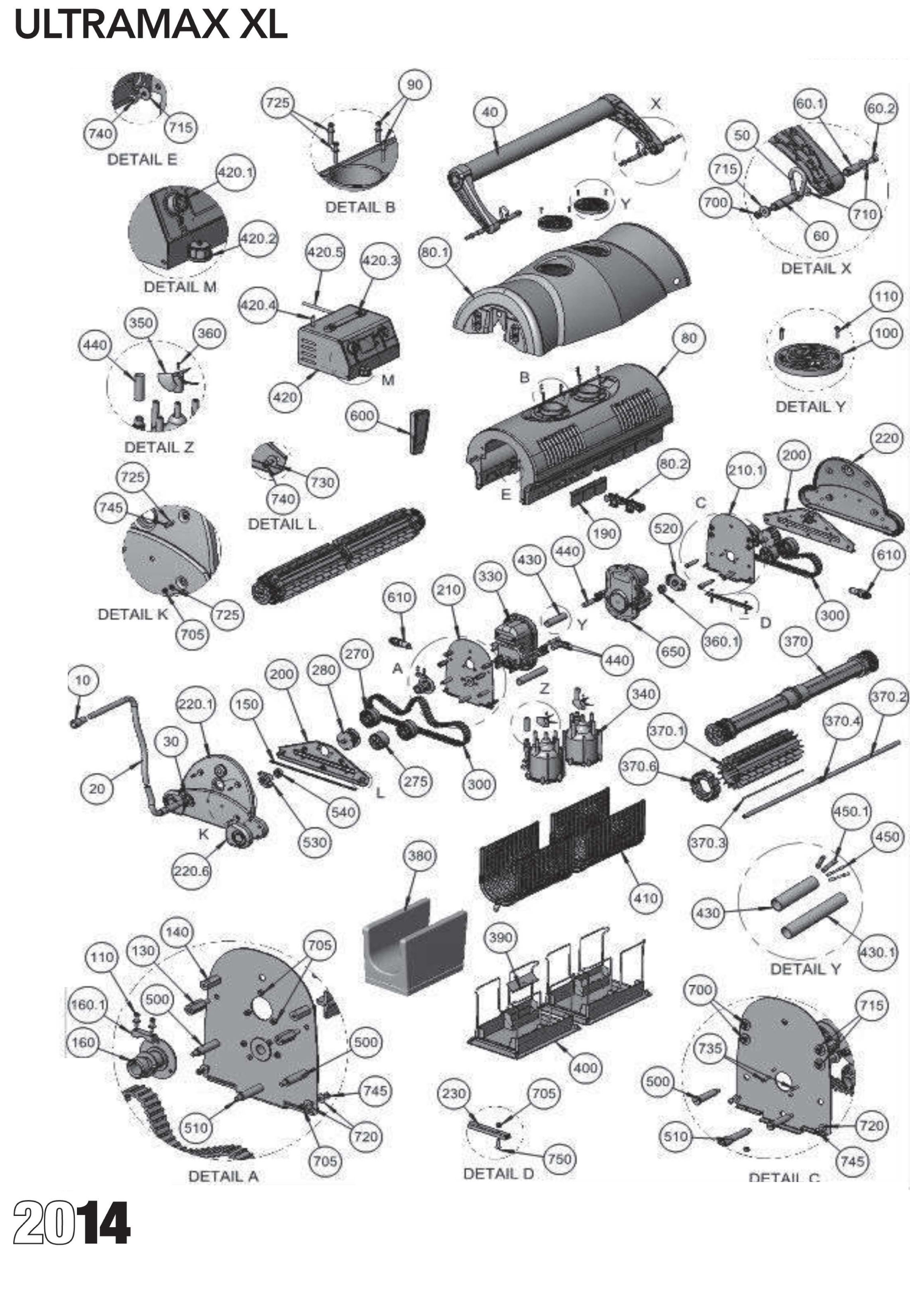 ultramax xl parts diagram and parts list 2014